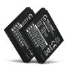 2x Kamera Akku für Panasonic Lumix DMC-F3 -F2 DMC-FS10 -FS6 -FS7 -FS15 -FS30 -FS42 -FS62 DMC-FT4 -FT1 -FT2 -FT3 DMC-TS3 DMC-FH20 DMC-FX60 - DMW-BCF10 CGA-S106 Ersatzakku 940mAh , Batterie