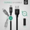USB Cable for DJI Mavic 2 Pro Mavic 2 Zoom Ronin S FeiyuTech AK2000S G6 MAX ZHIYUN Crane-M2 Smooth 4 Smooth-Q2 Weebill-S - Charging Cable 2m Data Cord 3A Black PVC Wire Lead
