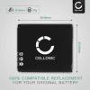 BP-DC4, BP-41, 18 646, 18 645, 18 644, 911902 Battery for Leica D-LUX 4 D-LUX 3 D-LUX 2 C-LUX 1 DP-1 DP-2 DP-3 Merrill 1150mAh Digital Camera Battery Replacement Spare Battery Backup Power Pack