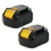 2x Batterie 18V, 3Ah, Li Ion pour Dewalt DCD791, DCD791D2, DCD791P2, DCD795, DCD796P2 - DCB184, DCB182, DCB183, DCB181, DCB180, DCB181-XJ batterie de rechange pour outils électroportatifs