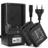 2x Batterie pour appareil photo Leica V-LUX 1 Panasonic Lumix DMC-FZ8 -FZ7 -FZ18 -FZ28 -FZ30 -FZ35 -FZ38 -FZ50 - CGR-S006e CGA-S006a DMW-BMA7 BP-DC5 750mAh + Chargeur BC-DC5 DE-A43B DE-A44A Batterie Remplacement