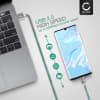 Câble USB pour Garmin Edge 520 Plus, 820, 1000, 1030 / Dashcam 55 / Zumo 595 / Approach / Dezl 760 - 1m Fil charge data 2.4A gris cordon Nylon