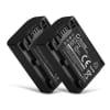 2x Batterie pour appareil photo Sony FDR-AX53 AX100 AX700 FDR-AX33 HDR-CX625 -CX900 -CX220 -CX190 NEX-VG10 -VG30 -VG900 DCR-SR68 DCR-SX45 DEV-50V HDR-PJ810 - NP-FV50 NP-FV70 NP-FV100 650mAh Batterie Remplacement