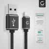 Datakabel voor Lenovo Tab4 8 Plus / 10 Plus / YOGA Tab 3 Plus - 1m, 3A USB kabel oplader, zwart
