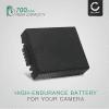 CGA-S002e CGA-S002e-1B CGR-S002 DMW-BM7 Batteri för Panasonic Lumix DMC-FZ10 DMC-FZ20 DMC-FZ5 FZ1 FZ15 FZ2 FZ3 DMC-FC20, 700mAh Kamera-ersättningsbatterimed lång batteritid
