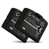 2x Batterie pour Sennheiser RS 4200 RR 4200 RR 840 RI 410 IS 410 HDI 830, Sennheiser Set 840 TV Set 840-S Set 900 Set 830 - BA300,BA 300 150mAh