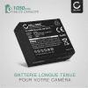 2x Batterie pour Leica D-Lux, Panasonic Lumix DMC-LX100, DMC-GX7 -GX80, DMC-TZ80 - DMW-BLE9,DMW-BLG10,Leica BP-DC15 (1050mAh) Batterie de remplacement