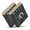 2x Batterie pour appareil photo Fujifilm Finepix Z1 Z2 Z3 F650 V10 F710 F480 F700 F460 J50 F470 F610 F455 F402 - NP-40 750mAh NP-40 Batterie Remplacement