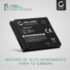 Bateria para camaras Panasonic Lumix DMC-FT30 FT25 DMC-SZ1 SZ7 DMC-S1 S2 S3 DMC-FS16 FS28 FS35 FS40 DMC-TS25 - DMW-BCK7 NCA-YN101H 700mAh Batería de repuesto