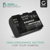 Batteri for Canon EOS 5D Mark II III IV EOS 5DS R EOS 60D 60Da EOS 6D Mark II EOS 70D EOS 7D Mark II EOS 80D EOS R WFT-E5 WFT-E7 XC10 XC15 - LP-E6 LP-E6N 2000mAh , reservebatteri