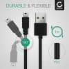 USB Kabel voor TomTom GO 520, GO 630, GO 720, GO 730 / ONE XL / XL 2 / Rider Pro / Trucker 5000 / Start - 1m Oplaadkabel 2A Laad Snoer PVC Datakabel zwart