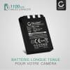 Batterie pour appareil photo Olympus C-770 C-765 Ultra Zoom C-760 C-50 Zoom C-60 C-70 C-5000 C-7000 FE-200 Stylus 300 Mju 400 300 IR-500 Micro 600 X-500 D-590 - LI-10B,LI-12B 1100mAh Batterie Remplacement