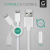 USB Cable for Garmin Edge 520 Plus, 820, 1000, 1030 / Dashcam 55 / Zumo 595 / Approach / Dezl 760 - Charging Cable 1m Data Cord 2A White PVC Wire Lead