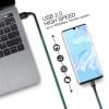 USB Kabel für BlackBerry KEYone / KEY2, LE / KEYMotion / DTEK70 / DTEK60 - Ladekabel 1,0m 3A PVC Datenkabel schwarz