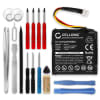 Battery for TomTom Start 20 Start 25, 4EN.001.02 4EN42 4EN52 4EV42 4EV52 - ALHL03708003,1ICP6/34/36 700mAh + Tool-kit, Replacement battery