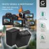 2x Batterie pour appareil photo Sony HDR-CX625, HDR-CX730 -CX700, HDR-CX570 -CX550, HDR-CX410, HDR-CX330e, HDR-CX280, FDR-AX53 -AX33, HDR-PJ810 -PJ650, NEX-VG900 -VG30, HDR-XR550, DCR-SX34 -SX33, DEV-50V - AC-VQV10 BC-TRV 3300mAh + Chargeur NP-FV100 Batterie Remplacement