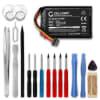 Batterie pour navigateur GPS TomTom Go 6200, Go 6100, Go 6000, Go 5000, Go 600, Go 500 - AHA11111008 VFAD VF6P 1100mAh + Set de micro vissage