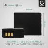 Batteria CELLONIC® CGA-S007,CGR-S007,DMW-BCD10 per Panasonic Lumix DMC-TZ5 DMC-TZ5 DMC-TZ3 DMC-TZ1 DMC-TZ4 DMC-TZ2 Affidabile ricambio da 900mAh sostituzione