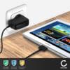 Chargeur de Batterie pour Samsung Galaxy Note 10.1 / Tab 8.9 / Tab 10.1 / Tab 2 7.0 / Tab 2 10.1 - 1.2m (2A / 2000mA)
