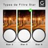 Filtre Étoile pour Ø 82mm (6 Point) Star Filter, Cross Filter