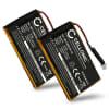 2x Batterie pour navigateur GPS Garmin Edge 605 / Edge 705 - 361-00019-12 1250mAh