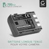 2x Batterie pour appareil photo Canon EOS 400D EOS 350D EOS Digital Regel XTi PowerShot G7 G9 PowerShot S50 HG10 Legria HF R16 R106 MD235 VIXIA HV30 Canon ZR800 - NB-2L NB-2LH BP-2L5 700mAh Batterie Remplacement