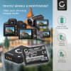 2x Batterie pour appareil photo Panasonic Lumix DMC-TZ10 -TZ6 -TZ7 -TZ8 -TZ18 -TZ20 -TZ25 -TZ30 -TZ31 -TZ35 DMC-ZX1 DMC-ZS7 - DMW-BCG10 -BCG10e -BCG10pp 890mAh + Chargeur DE-A66 Batterie Remplacement