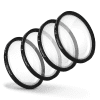 4x Filtres de gros plan Macro pour Sigma 30mm F1,4 DC DN C | Contemporary (Ø 52mm) Filtre Close-Up