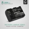 Batterie pour appareil photo Canon EOS 5D Mark II Mark III Mark IV 5DS R EOS 60D 6D Mark II EOS 70D 7D Mark II EOS R XC10 WFT-E5 EFT-E7 - LP-E6 LP-E6N 2000mAh Batterie Remplacement