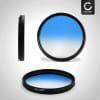 Filtre gradient couleur Bleu pour Ø 62mm