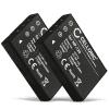 2x Batterie pour Medion Life MD 86641 Life P47030 Life X47030 - NP-120, NP120 1800mAh Batterie Remplacement
