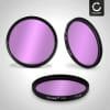 Fluoreszenz Filter FLD für Sony 35mm, 50mm, 75-300mm, 85mm, DT 15-55mm, DT 35mm, DT 55-200mm, FE 28-70mm (Ø 55mm) FD Filter