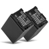 2x Batterie pour appareil photo Canon XA10 HG10 HG20 HG21 HF10 HF11 HF20 HF100 FS10 VIXIA HF G20 G10 LEGRIA GX10 HF G25 HF S100 S20 S21 HF M40 M30 M31 M46 HF200 - BP-808 BP-809 2600mAh bp-827 bp-807 Batterie Remplacement
