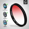 Farbverlauf Filter Rot für Ø 77mm Verlauffilter Verlaufsfilter