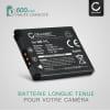 Batterie pour appareil photo Canon IXUS 160 170 275HS, PowerShot SX410IS SX400IS, A2500, ELPH, Digital IXUS, IXY - CB-2L 600mAh + Chargeur NB-11L,NB-11LH Batterie Remplacement