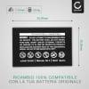 Batteria per DXG-5F9V DXG-589V DXG-581V DXG-571V DXG-5B9V DXG-5D7V DXG-521 (1200mAh) NP-60