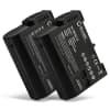 2x Batterie pour appareil photo Nikon 1 V1 D7000 D7100 D7200 D750 D7500 D500 D600 D610 D800 D800E D810 D810A D810E D850 - EN-EL15 EN-EL15a 2000mAh EN-EL15 Batterie Remplacement