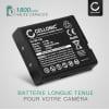 Batterie pour appareil photo Casio Exilim EX-ZR100 -ZR1000 -ZR200 -ZR300 -ZR310 -ZR400 -ZR410 -ZR700 -ZR710 -ZR750 -ZR800 -ZR1100 -ZR1200 EX-H30 EX-FC300s TRYX - NP-130 NP-130A 1800mAh Batterie Remplacement