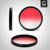 Filtre gradient de couleur Rouge pour Ø 55mm