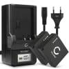 2x Batterie pour appareil photo Panasonic Lumix DMC-LX100 DMC-GX80 DMC-TZ80 -TZ81 -TZ100 -TZ101 DC-TZ90 DC-GX9 D-LUX 7 Typ 109 - DMW-BLE9 DMW-BLG10 Leica BP-DC15 750mAh + Chargeur DE-A98A DE-A99B Batterie Remplacement