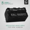 Akku für Sony TRV130 TRV68 DSR-PD150 DSR-PD170 DSR-PD170 MVC-FD73 - NP-F750,NP-F570,NP-F960 (4400mAh) Ersatzakku