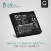 Kamera Batteri til Panasonic Lumix DMC-FS7 -FS62 -FS6 -FS30 -FS11 -FS10 DMC-FT3 -FT4 -FT1 -FT2 DMC-TS4 DMC-FX40 -FX48 -FX550 -FX66 -FX70, DMC-FH20 - DMW-BCF10E CGA-S106 CGA-S009 940mAh Udskiftsningsbatteri til kamera