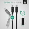 CELLONIC Datacable for Fujitsu LifeBook U727 / U747 / U757 / U937 / T937 / P727 2m, 3A USB Data Cable, Black
