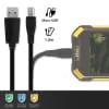 Câble Data pour RugGear RG740 / RG730 / RG700 / RG650 / RG655 / RG600 / RG500 / RG310 / RG100 - 1m, 1A Câble USB, noir