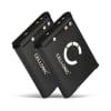 2x Batterie pour appareil photo Nikon CoolPix S33 S32 S2500 S3100 S3300 S3500 S3700 S4200 S4300 S5300 S6800 S6900 S7000 CoolPix W100 CoolPix A300 A100 Sony DSC-RX0 - EN-EL19 NP-BJ1 700mAh Batterie Remplacement