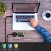 Datakabel voor Samsung PCBS10 | GT-S5230 / GT-E1200 / GT-E1190 / GT-E1150 / GT-E1050 / SGH-F480 / Player One - 1m, USB kabel oplader, zwart