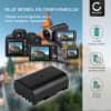 Batterij voor Panasonic GH5 Lumix DC-GH5s DMC-GH4 GH4 GH4r GH4h GH3 Lumix DMC-GH3h GH3a G9 Lumix DC-G9 camera - DMW-BLF19 DMW-BLF19E DMW-BLF19PP 1600mAh Vervangende Accu voor fototoestel