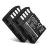 2x Batterie pour appareil photo Sigma SD Quattro, SD Quattro H - BP-61 1600mAh BP-61 Batterie Remplacement