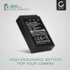 BLS-5 BLS-50 Batteri för Olympus OM-D E-M10 Mark II III E-M5 Mark III Pen E-PL9 E-PL1 PL10 PL2 PL3 PL5 E-PL6 E-PL7 E-PL8 E-P3 E-PM1, 900mAh Kamera-ersättningsbatterimed lång batteritid