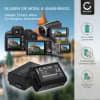 2x Kamera Akku für Sony Alpha 6000 (A6000) A6300 A6500 Alpha 5000 a5000 A5100 Alpha 7 A7 Alpha 7 II A7II A7s A7R ILCE-7R - NP-FW50 Ersatzakku 1050mAh NP-FW50, Batterie